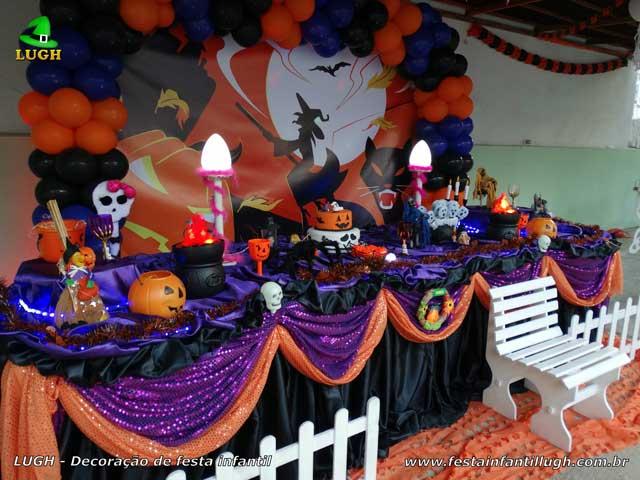 Mesa decorativa Halloween luxo para festa infantil - Jacarepaguá RJ