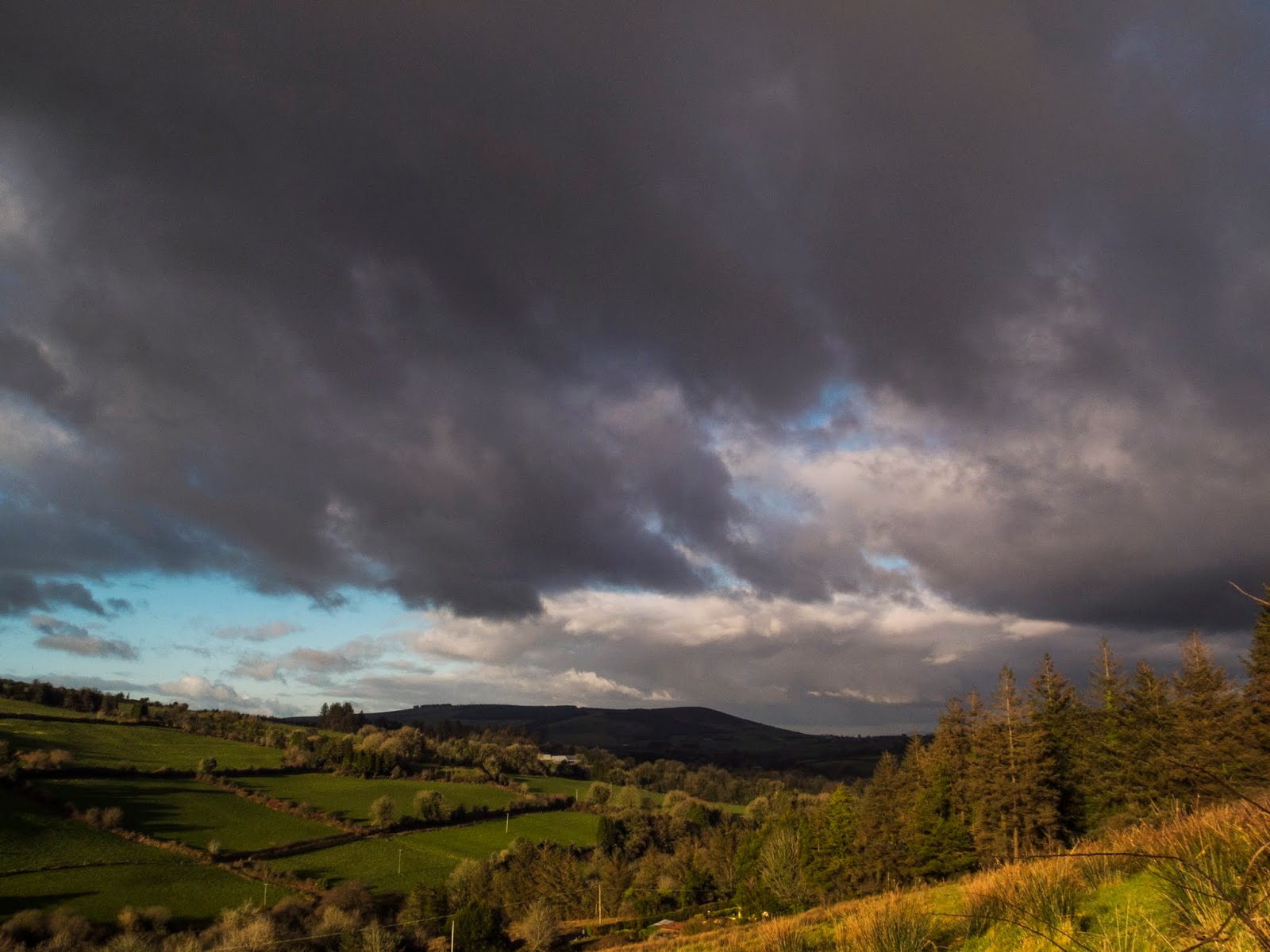 Landscape of the mountains in North Cork.