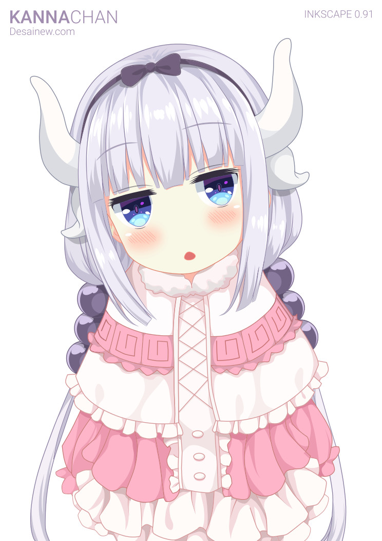 Kanna Chan tracing anime in inkscape and adobe illustrator