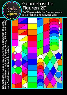 Dreieck, Kreis, Quadrat und Rechteck, Oval, Ellipse, Rechteck, Fünfeck und Sechseck: Viele Figuren in einem Set zum Gestalten und Erforschen geometrischer Figuren.