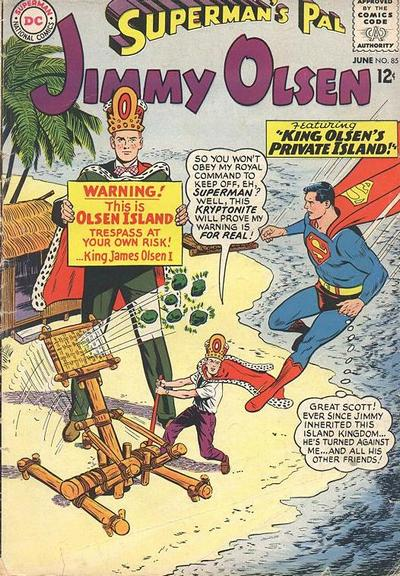 Episode #383 Part I: Superman Family Comic Book Cover Dated June 1965: Superman's Pal Jimmy Olsen #85!