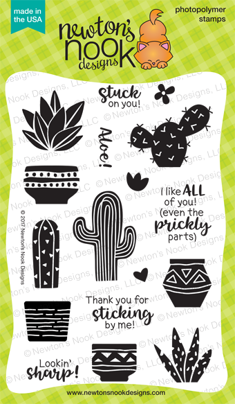 Newton's Nook Designs Cultivated Cacti Stamp Set