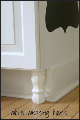 Someday Crafts: Adding Cabinet Feet