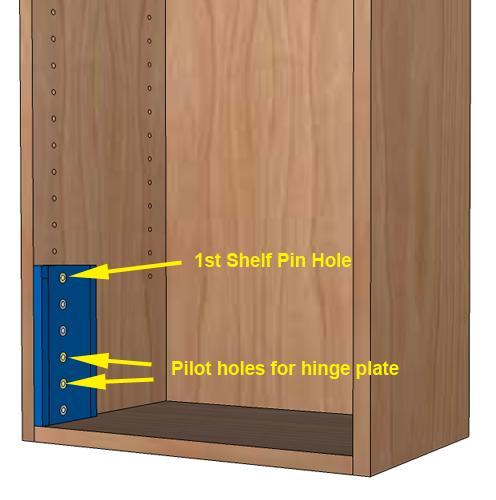 Step 4: Drill Shelf Pin Holes