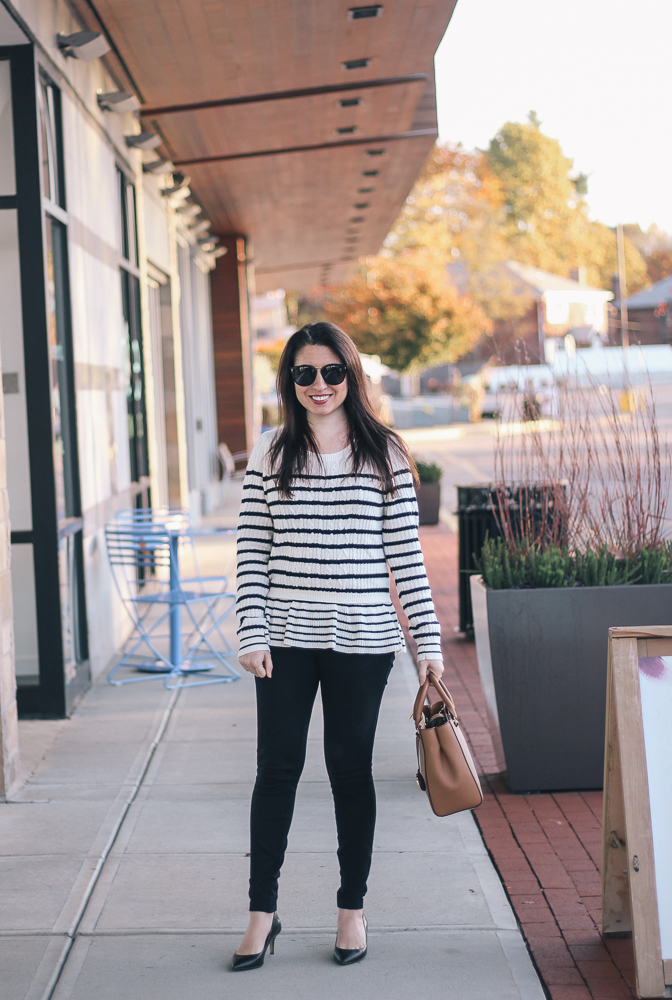 Boston Life & Style Blogger, The Northern Magnolia, is featuring one of her favorite sweaters of the fall season.