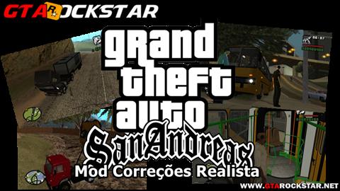 GTA SA - Mod Correções Realista para GTA San Andreas V3.0