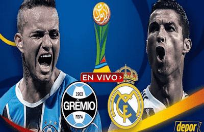 Real Madrid vs Gremio canal en vivo, en este partido se disputara la gran final del Mundial de Clubes 2017.