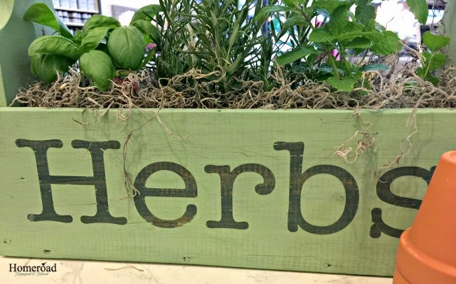 Wooden herb crate makes a great DIY gift.