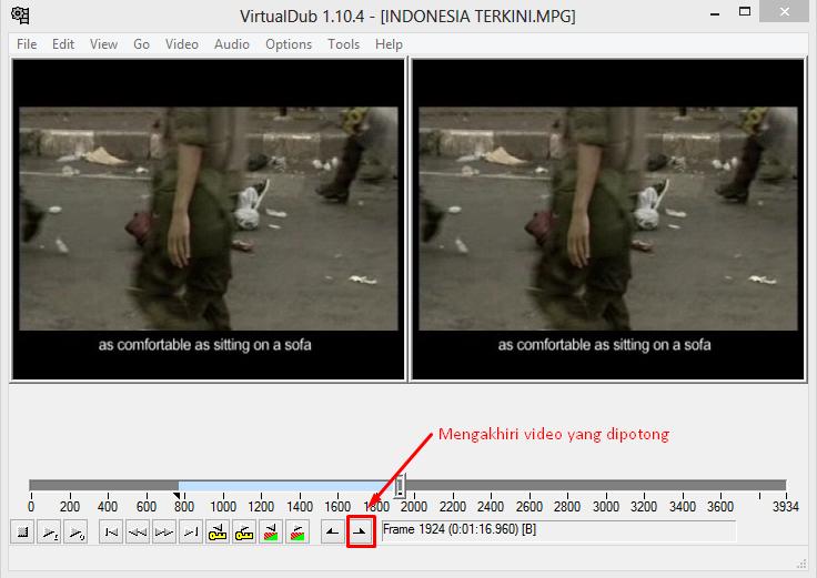 Memotong Video Dengan VirtualDub 3