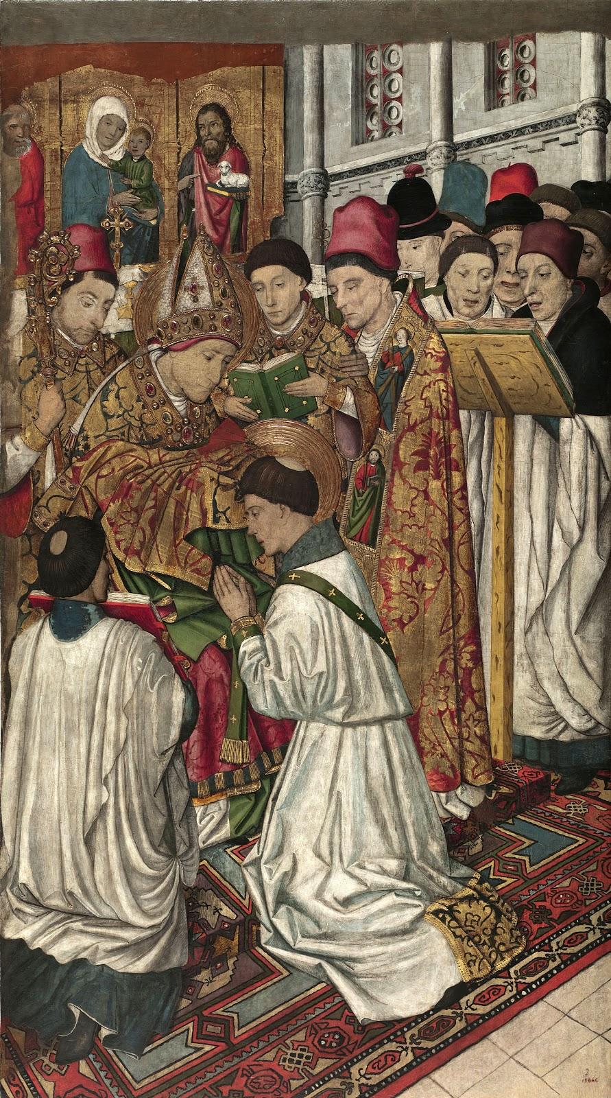Jaume Huguet aint Vincent Ordained by saint Valerius
