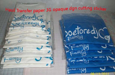 hasil transfer peper 3G Opaque