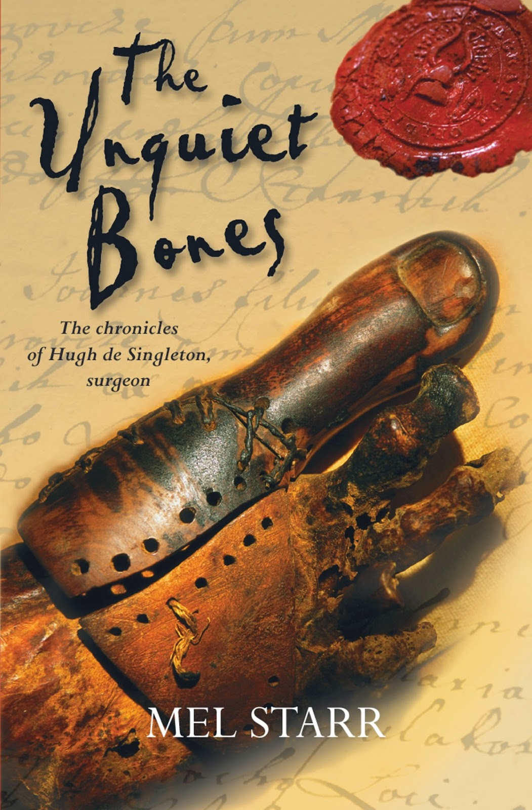 The Unquiet Bones by Mel Starr book cover