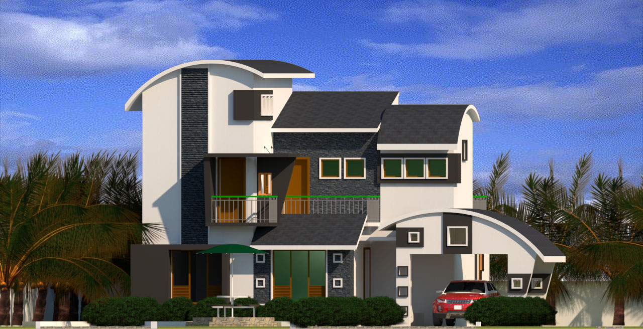Revit Architecture Modern House Design