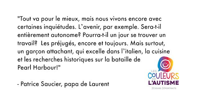 Autisme, la couleur de Laurent #30couleurs  Julie Philippon Mamanbooh