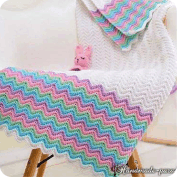 Mantas zig zag a Crochet