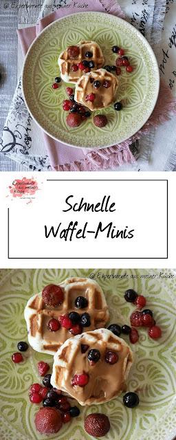 Experimente aus meiner Küche: Schnelle Waffel-Minis
