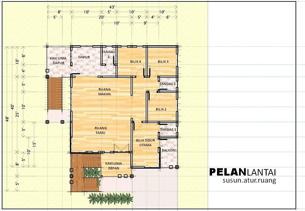Design Only Rumah Kayu Modern