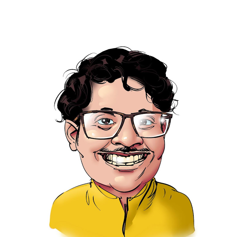 funny cartoon caricature of kamil das