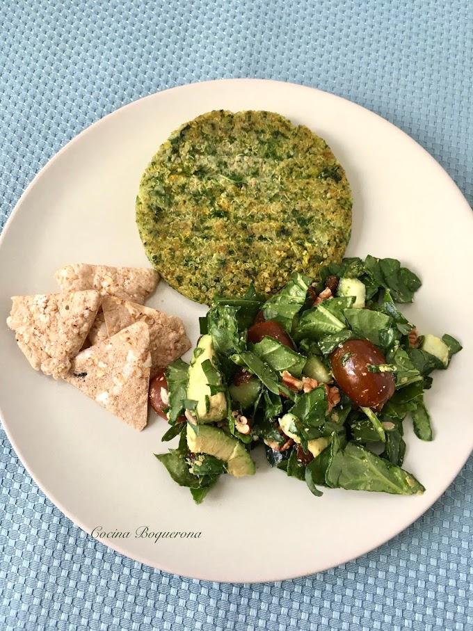 Hamburguesa de quinoa y kale (sin gluten)