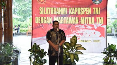 Puspen TNI Gelar Buka Puasa Bersama Wartawan Sebagai Mitra TNI