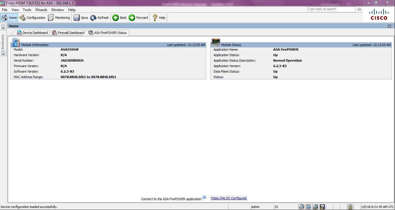 My Cybersecurity Journal: Cisco ASA 5506W-X FirePOWER Module