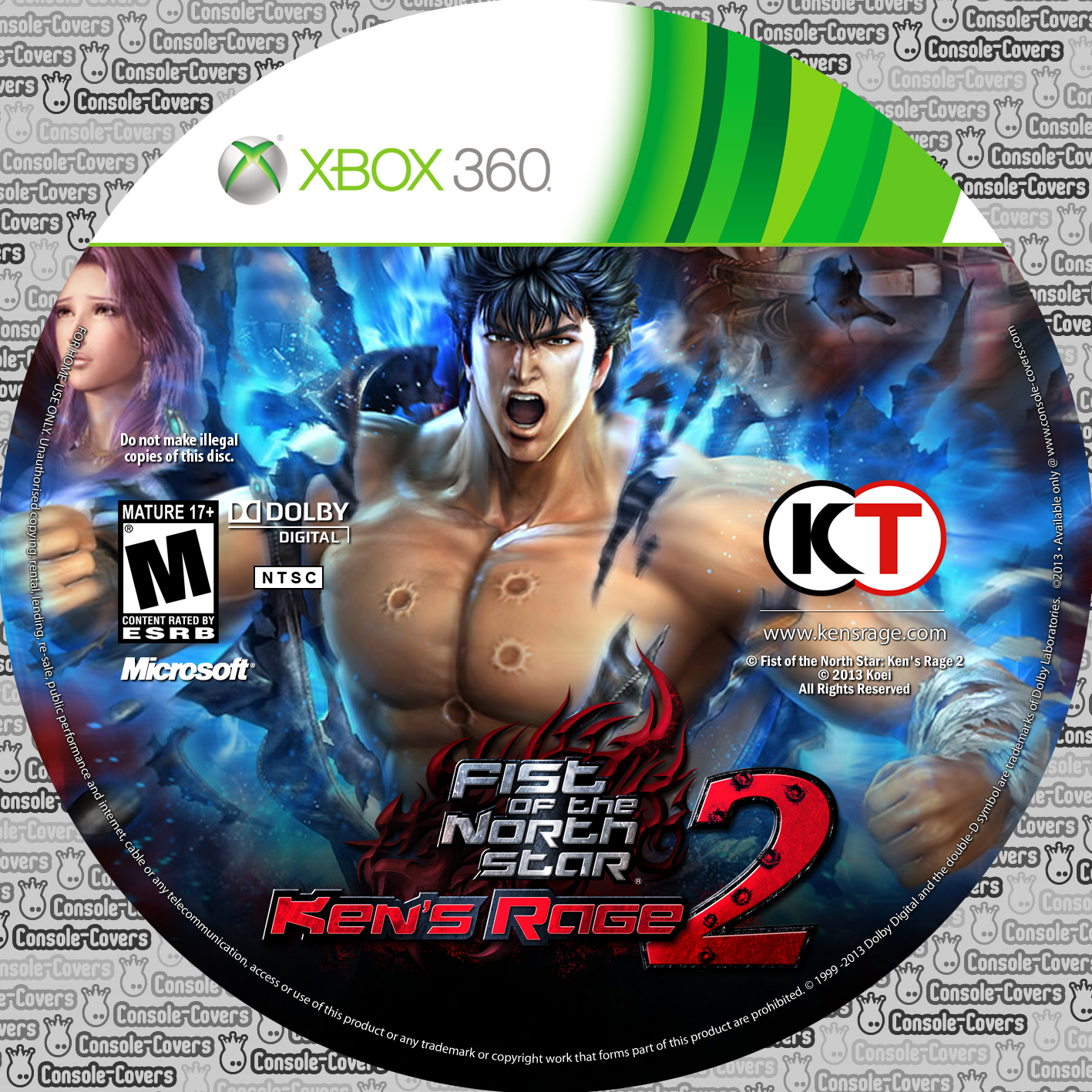 Label Fist Of The North Star Kens Rage 2 Xbox 360