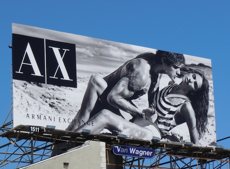 AX sexy beach model billboard