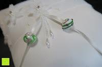 Anleitung: Hochzeit Ringkissen Kissen mit Faux Perle Blume Satin Elfenbein 20cm*20cm ---Ivory