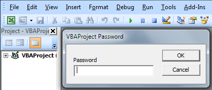 Change/Remove the Password of a Password-Protected VBA