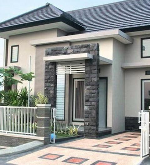 30 Model Tiang Teras Rumah Batu Alam Minimalis Yang Terbaru