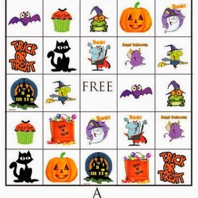 5 Free Halloween Bingo