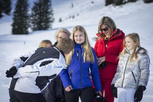 Dutch Royal Family Annual Winter Photocall In Lech 2016