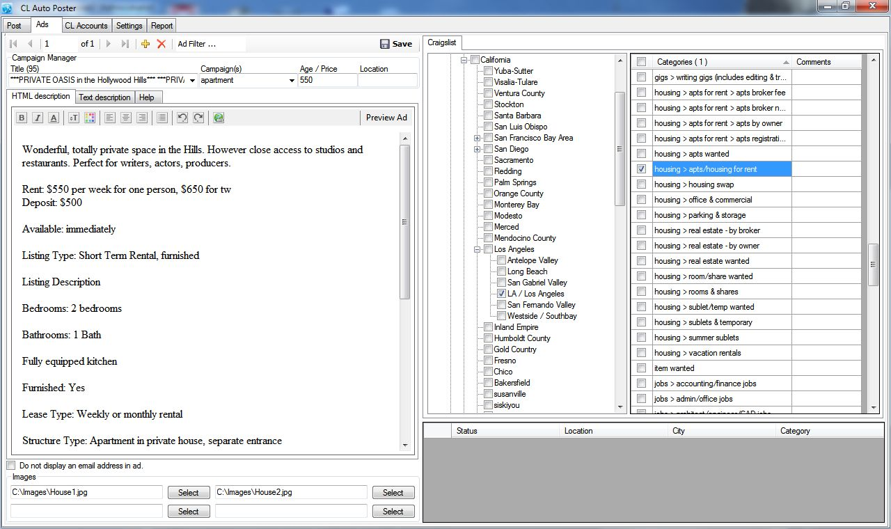 Free Download Paid Software & E-bbok: Get Craiglist Auto Posting