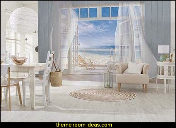 Komar  Malibu Wall Mural  seaside cottage decorating ideas - coastal living living room ideas - beach cottage coastal living style decorating ideas - beach house decor - seashell decor - nautical bedroom furniture
