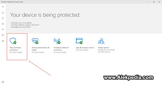 Virus & Threat Protection Windows Defender