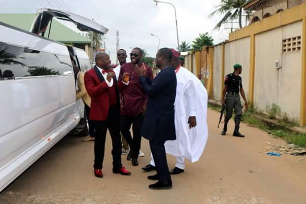 Photos: Bishop Tom Samson arrives Egbeda in his N80 million stretched Hummer limousine