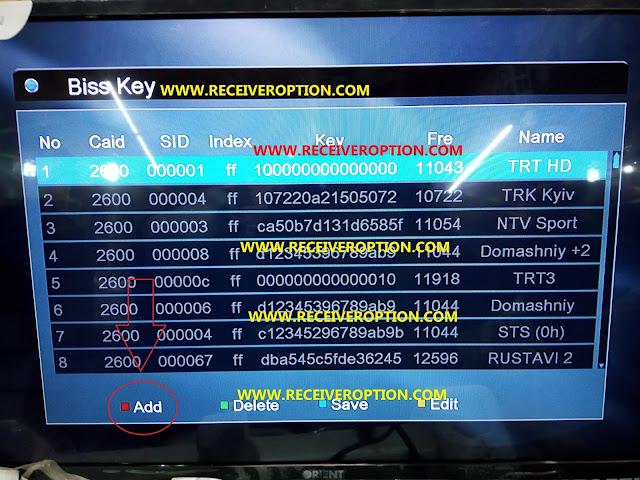 STAR TRACK W-SMART PLUS HD RECEIVER BISS KEY OPTION