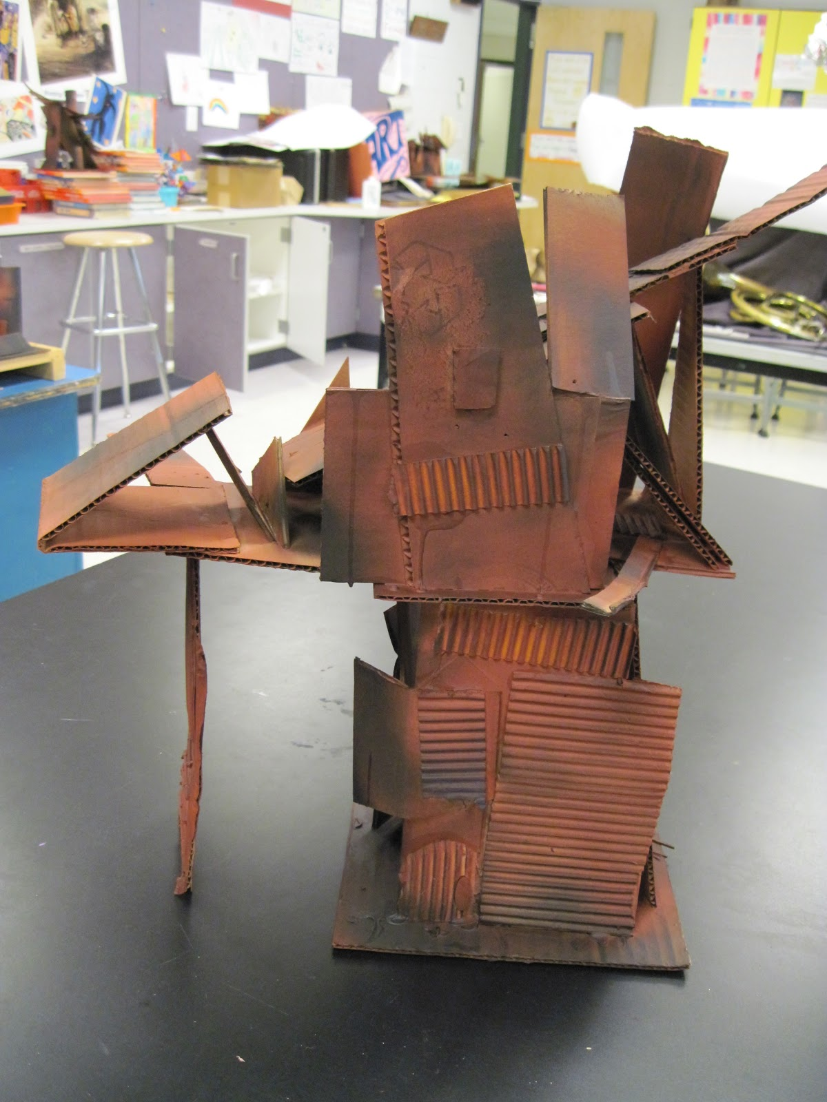 There's a Dragon in my Art Room: Crooked old cardboard houses