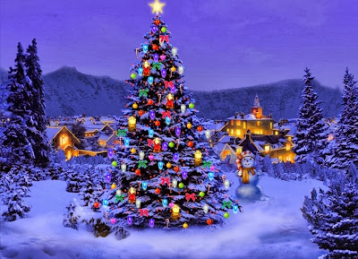 Christmas-Tree-Wallpaper-blue-color