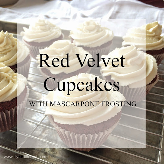 Red Velvet Cupcakes with Mascarpone Frosting