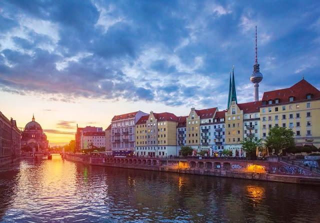 Rio Spree em Berlim