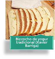BIZCOCHO DE YOGUR TRADICIONAL {RECETA XAVIER BARRIGA}