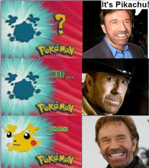 Comic about Chuck Norris and Pokemon