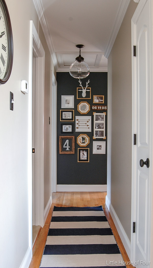 Gorgeous gallery wall using IKEA Frames