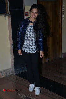 Actress Nanina Ganguly Stills in Black Tights with Vangaveeti Movie Team at Devi Theater  0048.JPG