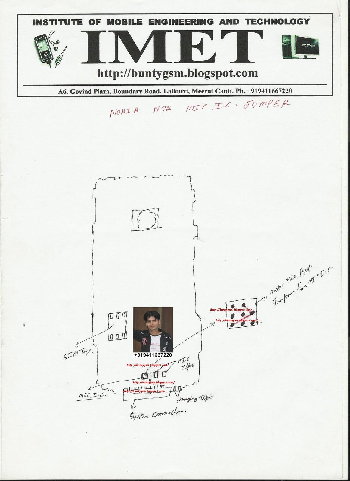 Nokia N72, Nokia N70 MIC IC Jumper By BuntyGSM / IMET