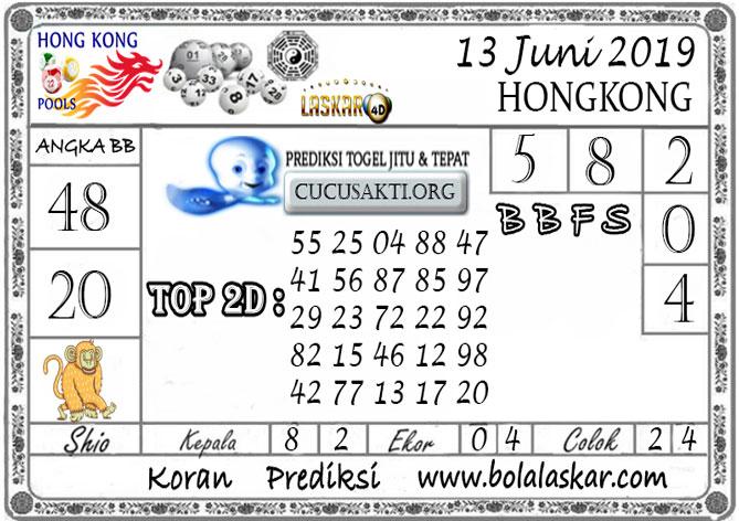 Prediksi Togel HONGKONG LASKAR4D 13 JUNI 2019