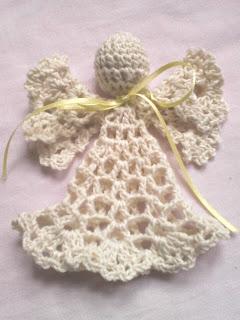 Angel a crochet. Adornos tejidos de Navidad. Creaciones VM