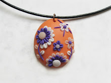 Embroidery Polymer Clay Pendant