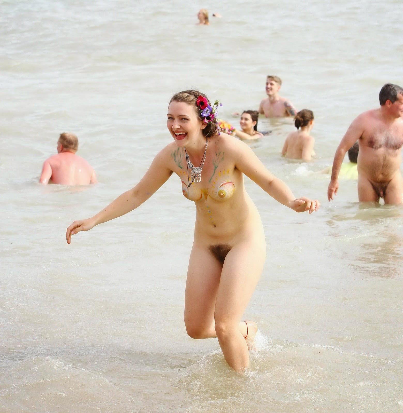 Hairy nudist chicks